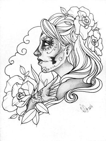 La Catrina Drawing