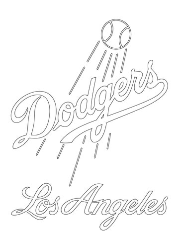 360x480 Los Angeles Dodgers Logo Coloring Page Free Printable Coloring Pages