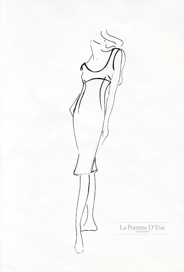 592x875 Fashion Design Line Drawing