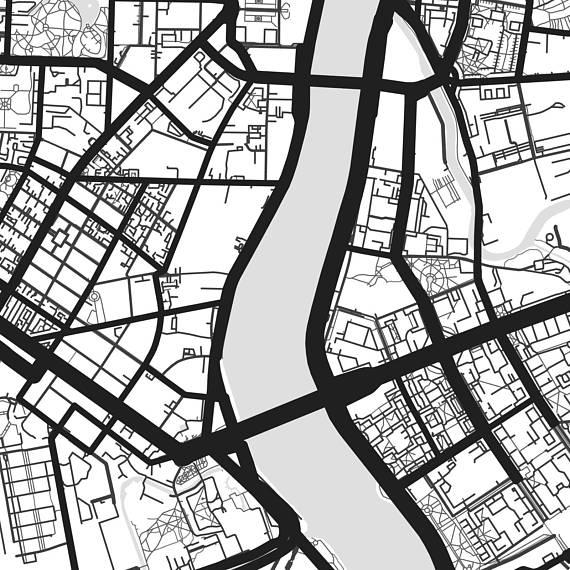 570x570 Saint Petersburg Map Art Printable Russia Map Print St