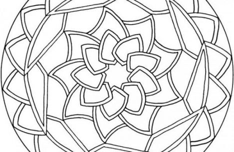 469x304 Simple Mandala Coloring Pages To Beatiful In Tiny Draw Image
