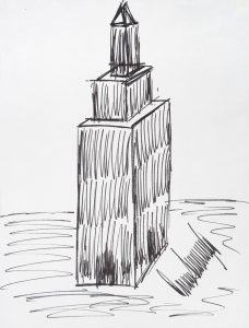 228x300 Trump Drawing Of Empire State Building Up For Auction