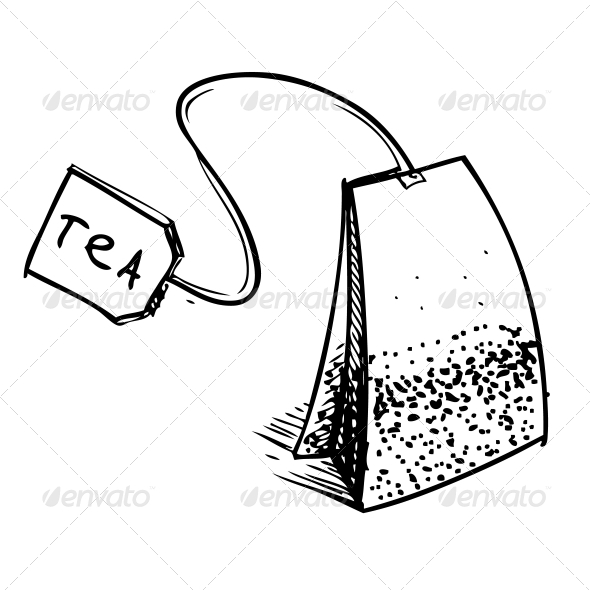 590x590 Tea Bag With Label By Chuhastock Graphicriver