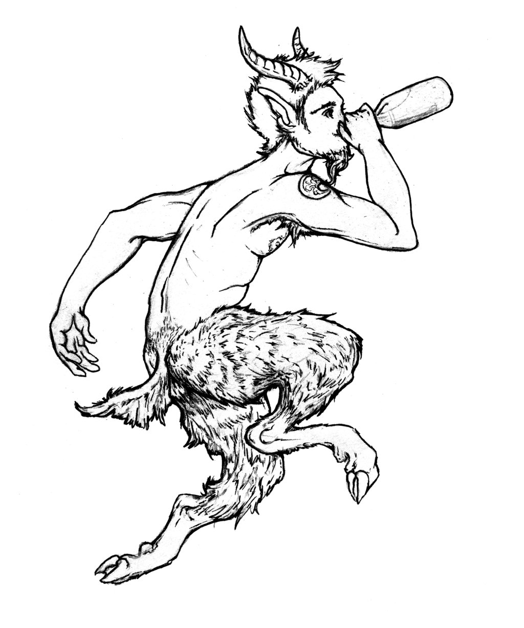 1024x1227 Cheeky Satyr Beer Label (Personal) By Liren
