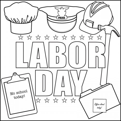 500x500 Labor Day Coloring Pages