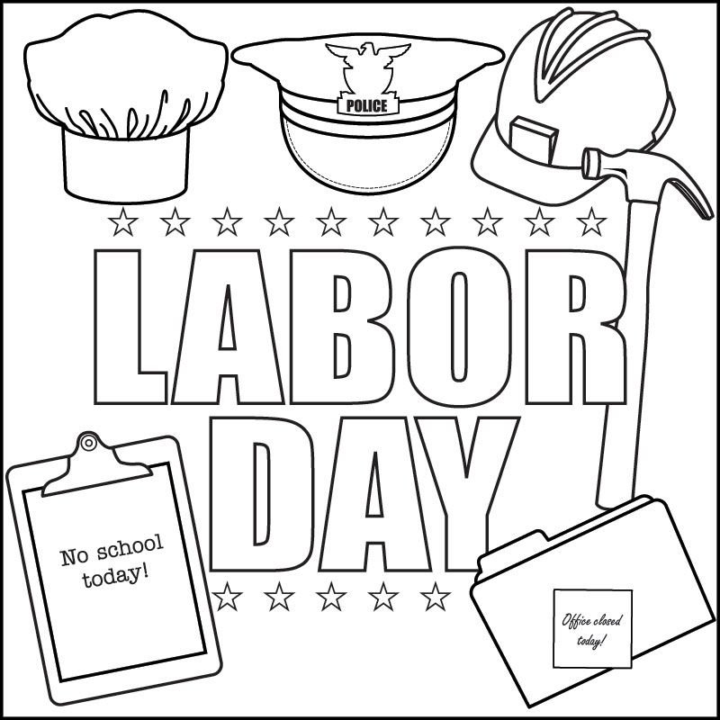 800x800 Labor Day Song And Printable Coloring Page Beginning Of The Year