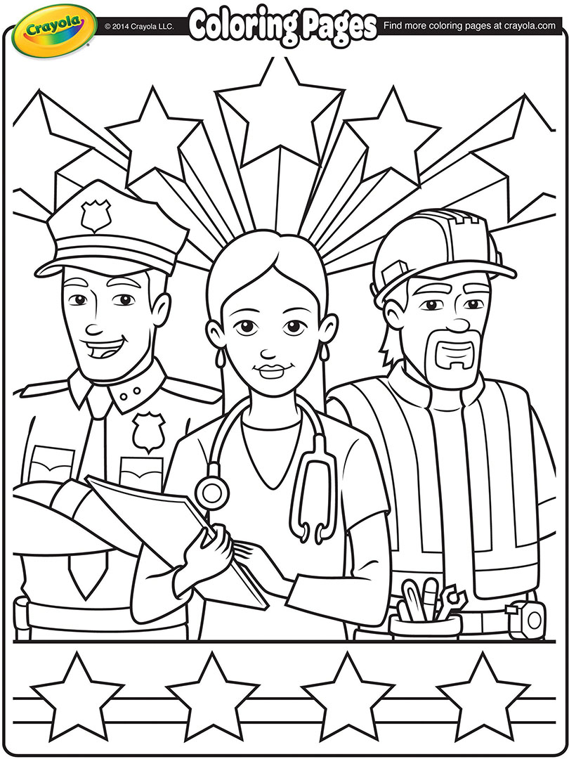 810x1080 Labor Day Workers Coloring Page