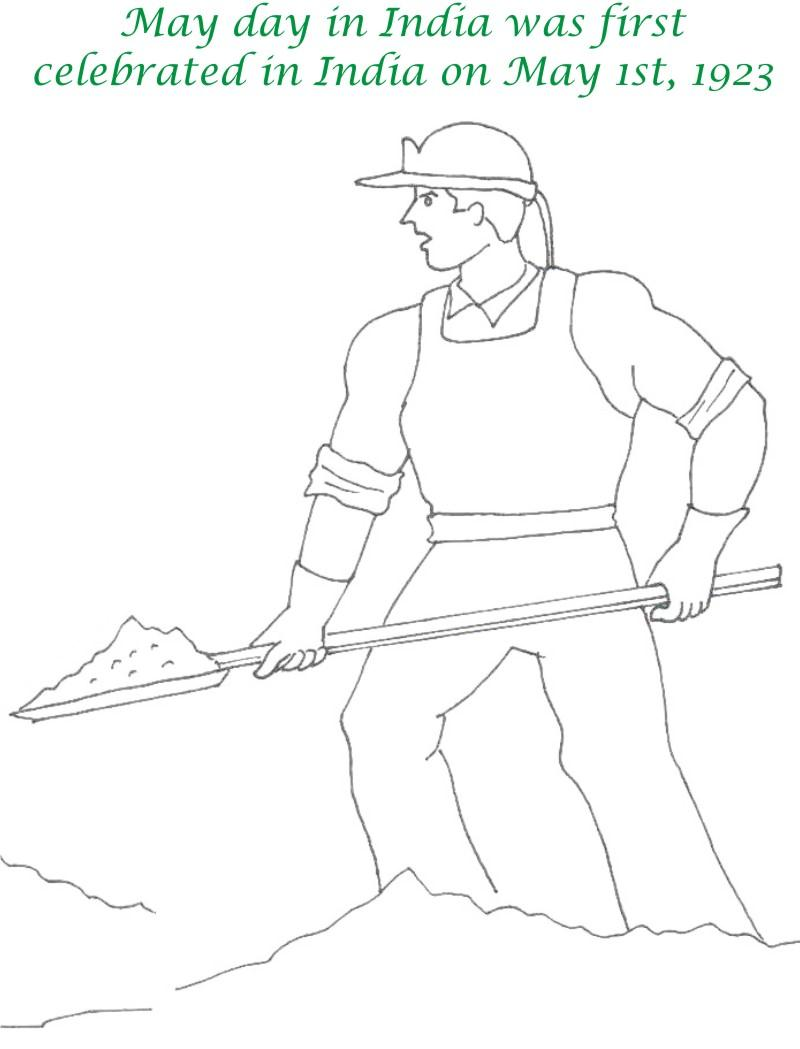 800x1049 Labor Day Printable Coloring Page For Kids 9