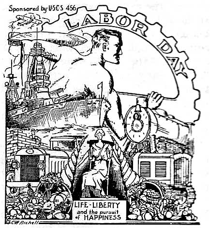 434x471 Labour Day U.s.c.s. 456 Cachet King Of 1934 Cachets (1935