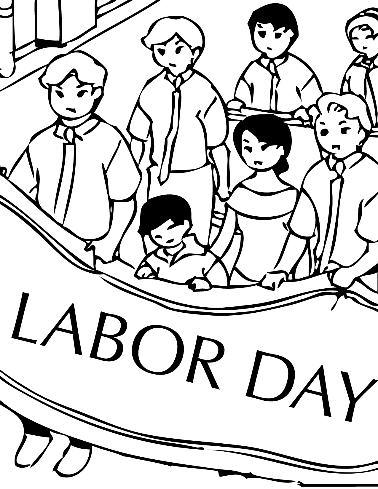 1275x1650 Labor Day Coloring Pages Print This Page American Holidays