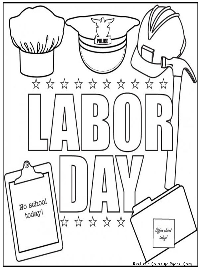 768x1024 Labor Day Coloring Pages For Kids