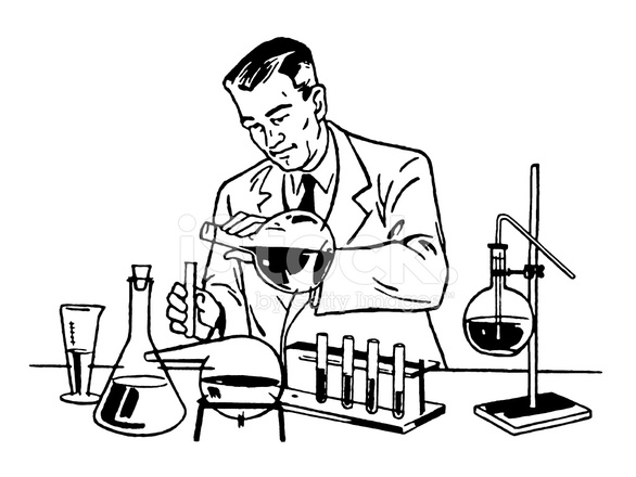 586x440 Scientist Working In The Lab Stock Vector