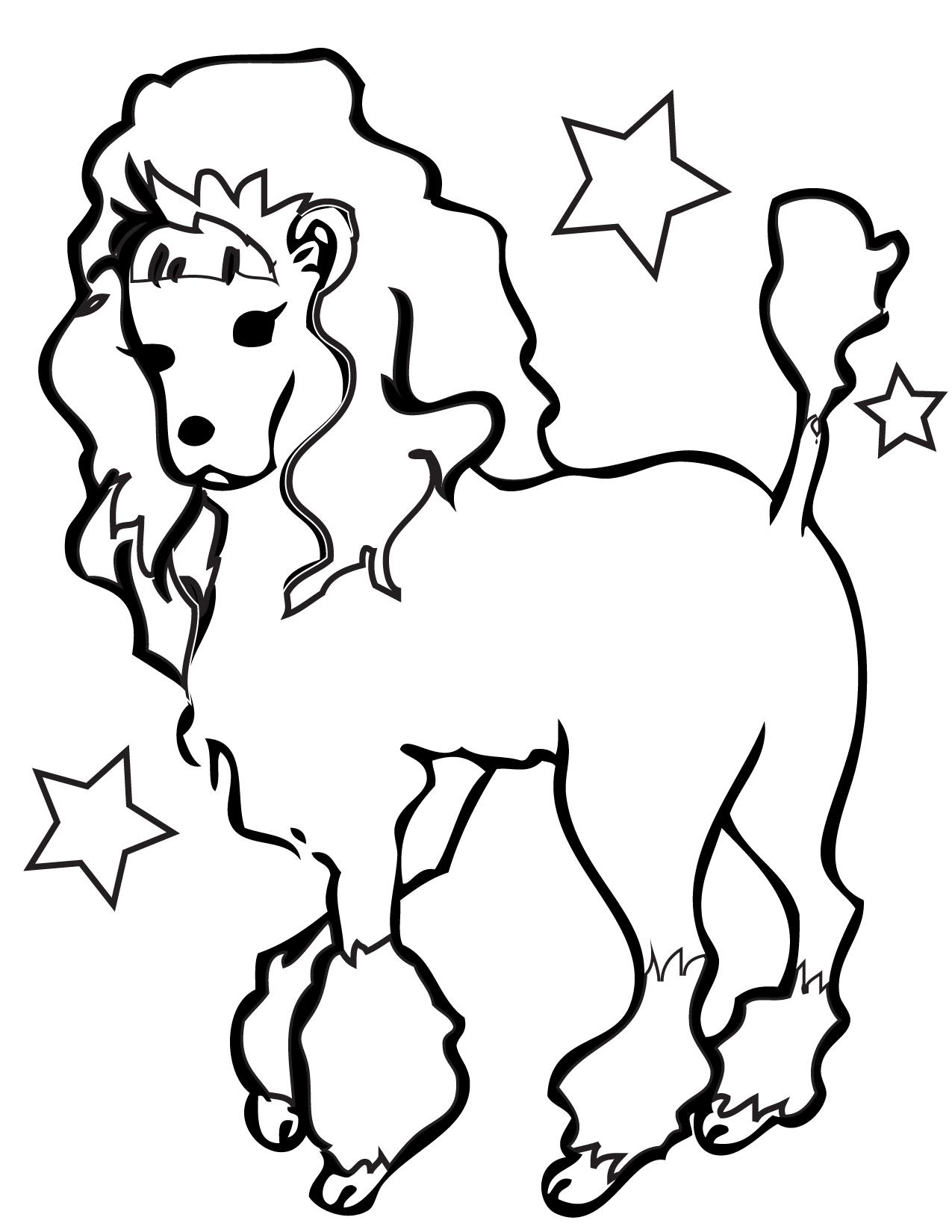 1275x1650 Labradoodle Animal Coloring Pages Poodle Coloring Page Handipoints