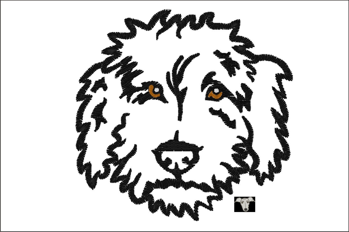 1414x940 Labradoodle Dog Applique Amp Embroidery Designs In 8 Sizes