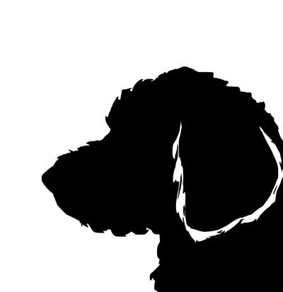 400x413 Labradoodle Silhouette Extra Large Reusable Cotton Canvas Tote Bag