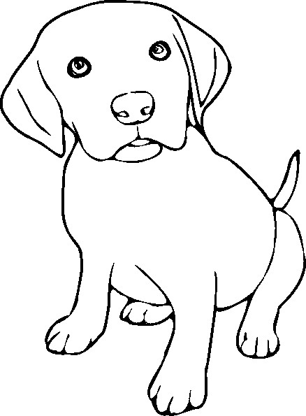 438x595 Direct Black Lab Coloring Pages Dog Labrador Retriever Page