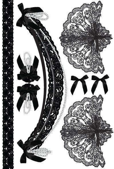 398x585 Lace Shoulder Tattoos