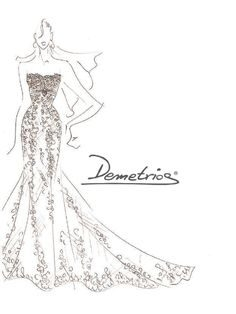 236x314 Lace Wedding Dress Drawing Top
