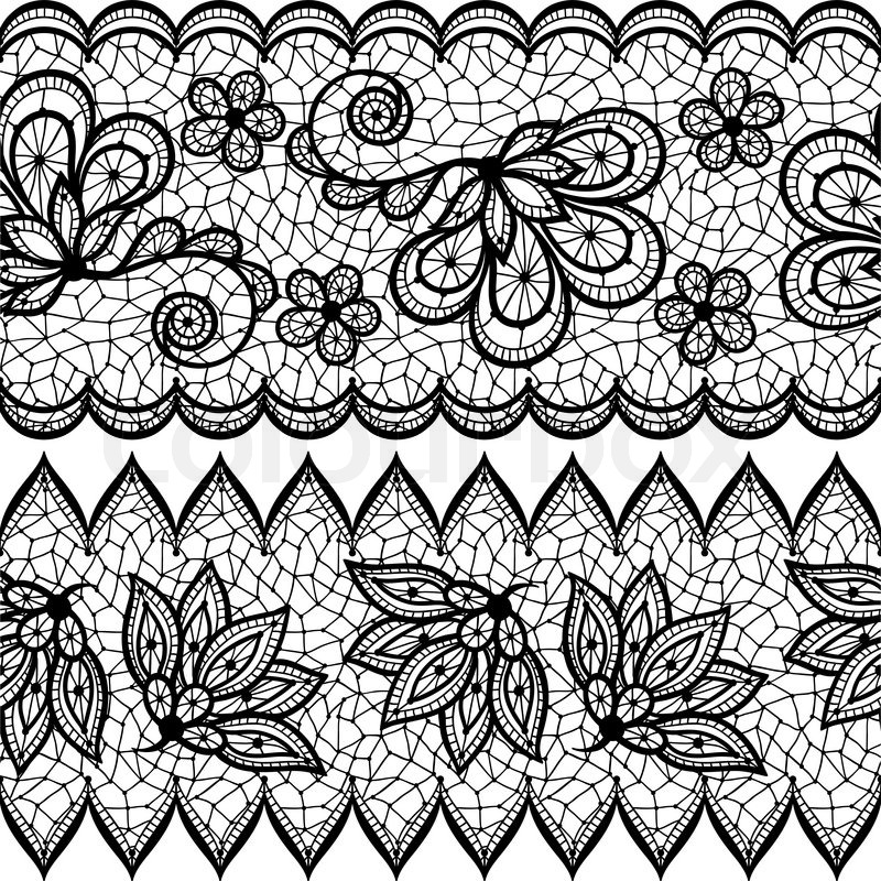 800x800 Old Lace Seamless Pattern, Ornamental Border. Vector Texture