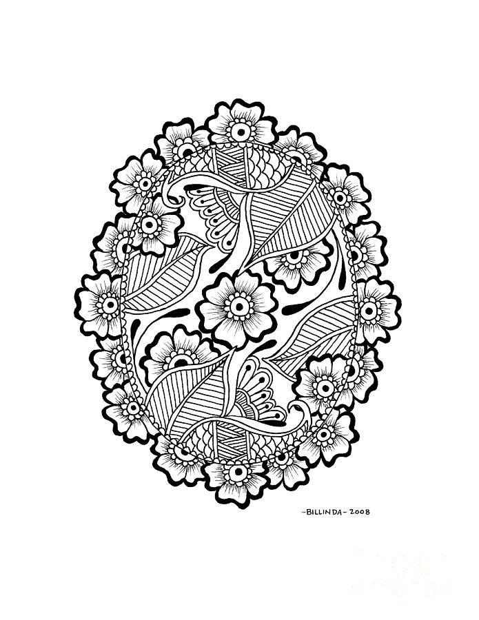 695x900 Oval Lace Drawing By Billinda Brandli Devillez