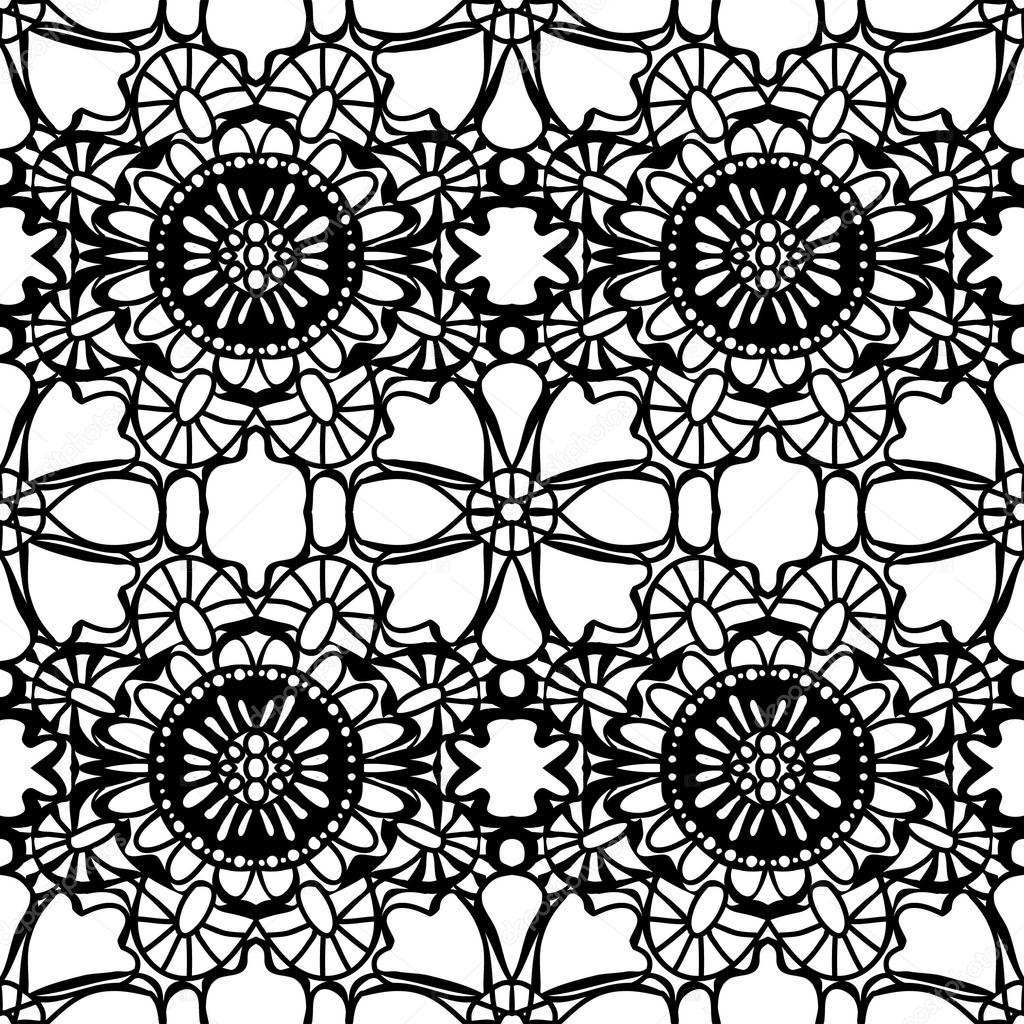 1024x1024 Simple Lace Drawing Pattern