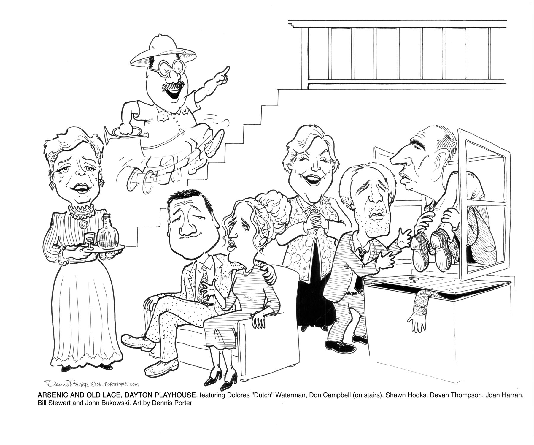 1800x1499 Theatre Caricatures, Caricature Of Actors Performing In Plays