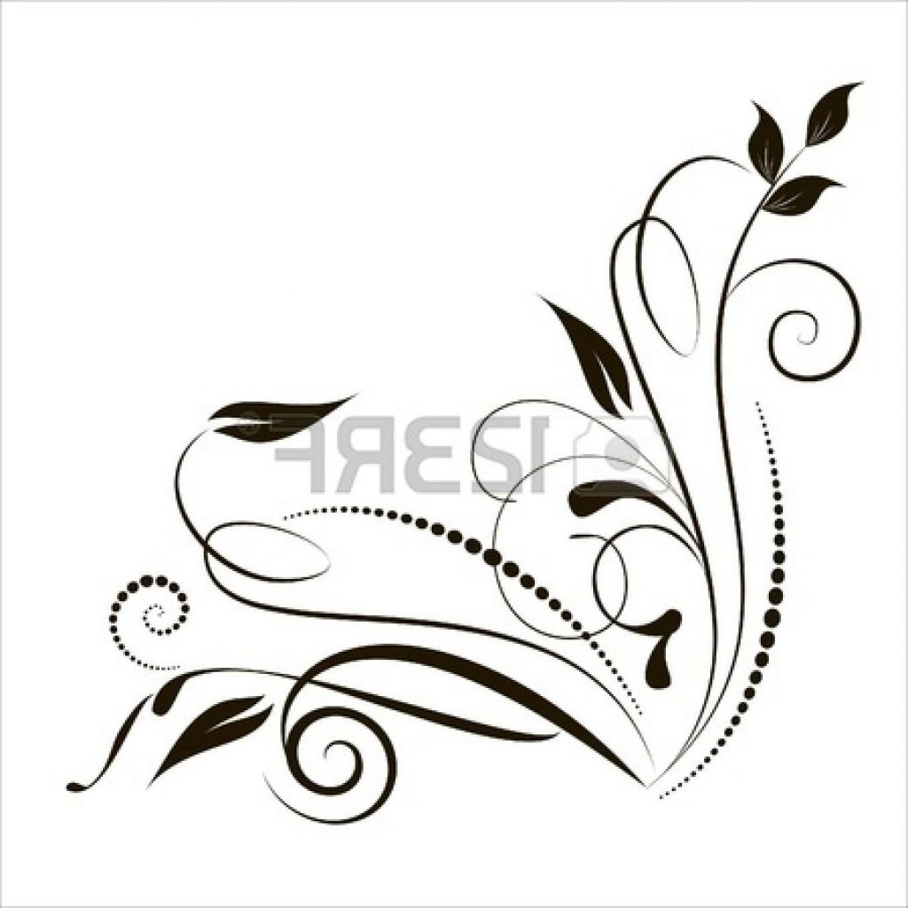 1024x1024 Best Swirl Clipart Lace Drawing