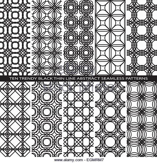 520x540 Set Seamless Lace Line Pattern Stock Photos Amp Set Seamless Lace
