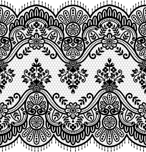 500x520 Black Lace Vector Free Vector Download (8,714 Free Vector)