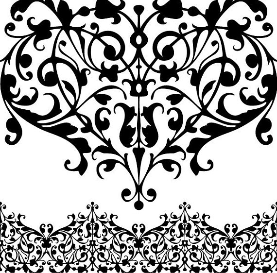 570x562 Digital Lace. Digital Borders. Clip Art Lace. Clipart Borders