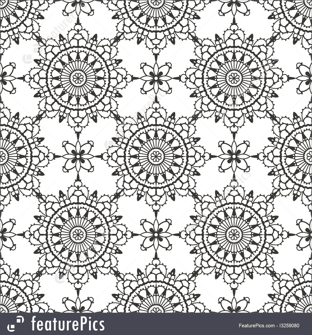 1300x1392 Lace Seamless Pattern