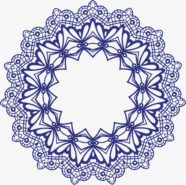 650x648 Lace Lace Pattern Vector Round Frame, Vector, Chinese Elements