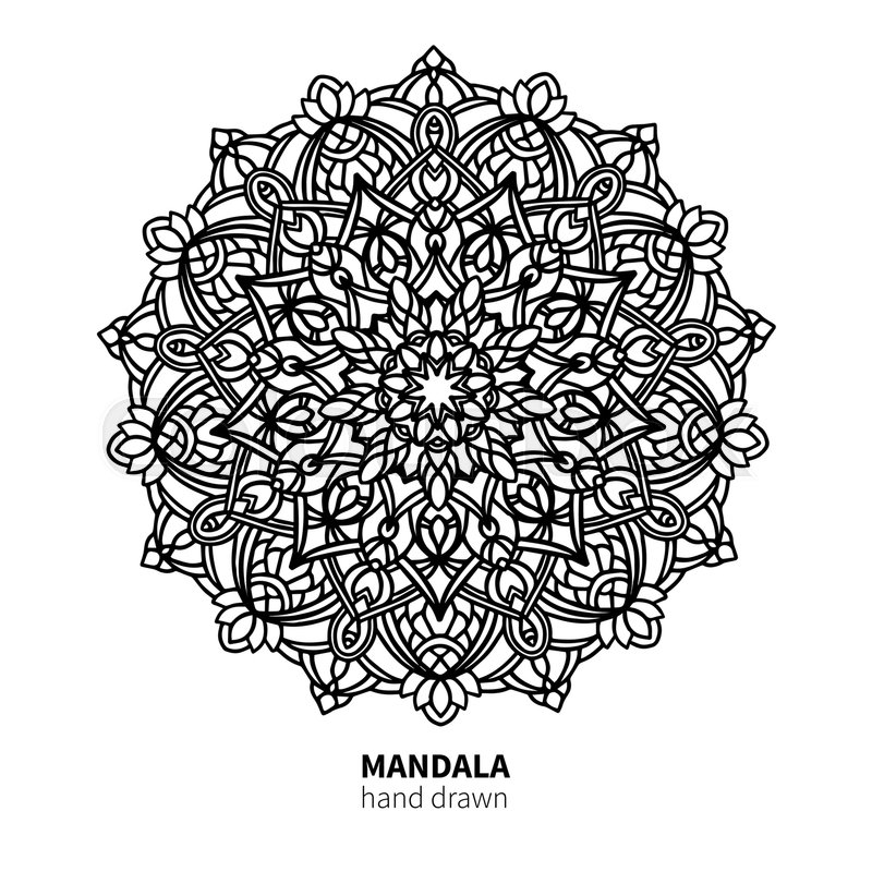 800x800 Mandala Flower Vector Drawing. Decorative Boho Round Ornament