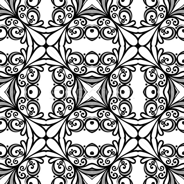 600x600 Vector Seamless Vintage Black And White Lace Pattern Vector