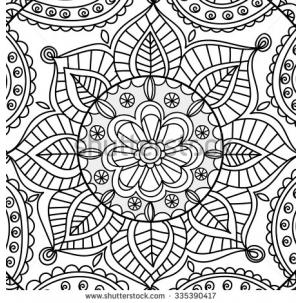 303x303 Fb2a Vector Ornamental Round Lace Pattern Hand Draw Circle
