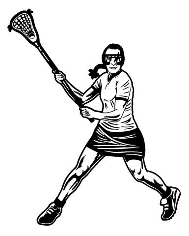 385x480 Female Lacrosse 3 Decal Sticker