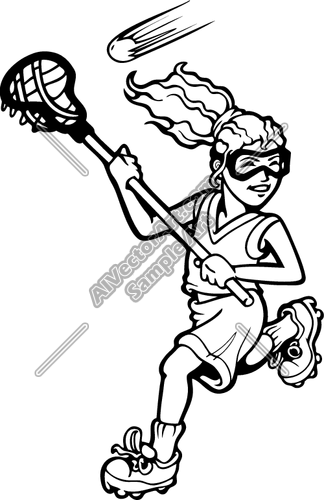 324x500 Lacrosse07v4bw Clipart And Vectorart Sports