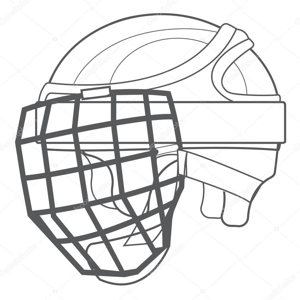 1024x1024 A Hockey Helmet, Hockey Ammunition, Sports Equipment Black White