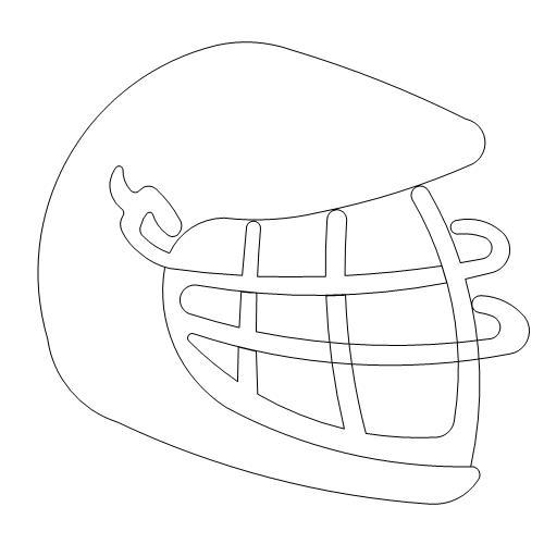 500x500 Lacrosse Helmet Anne Bright Designs