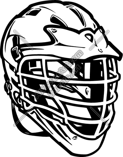 393x500 Lacrosse04v4bw Clipart And Vectorart Sports