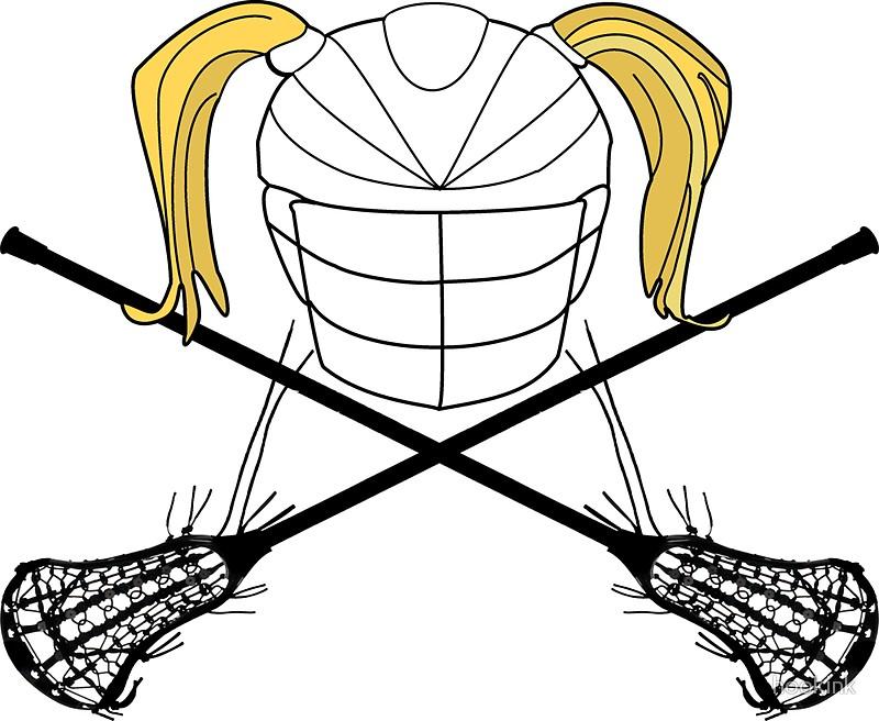 800x656 Female Lacrosse Helmet Blonde, Sports Stickers By Hookink Redbubble
