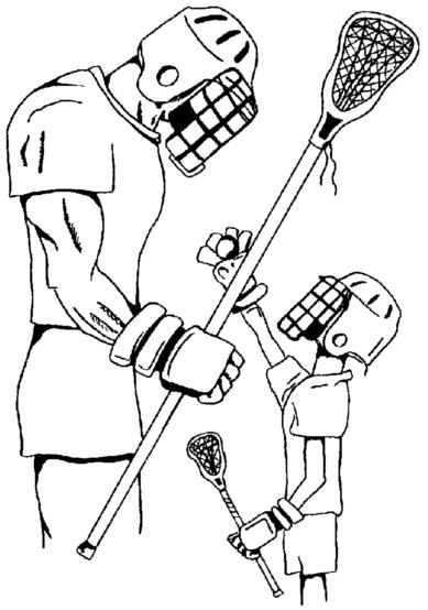 Lacrosse Player Drawing