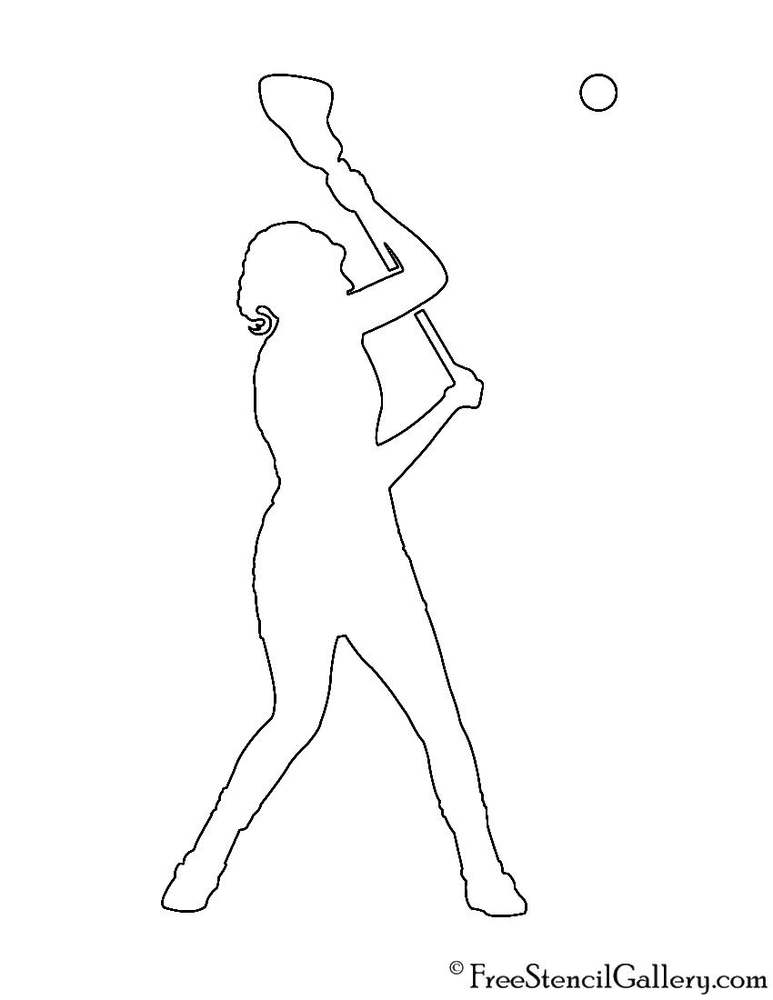 850x1100 Lacrosse Player Silhouette 01 Stencil Free Stencil Gallery