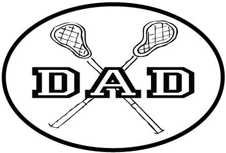 446x302 Lax Dad White Oval Magnet