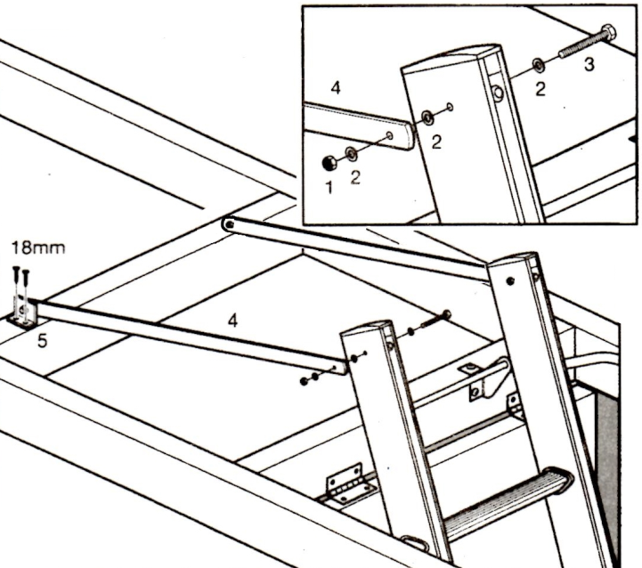 721x638 Instructions On How To Fit A Sliding Loft Ladder Bps Access