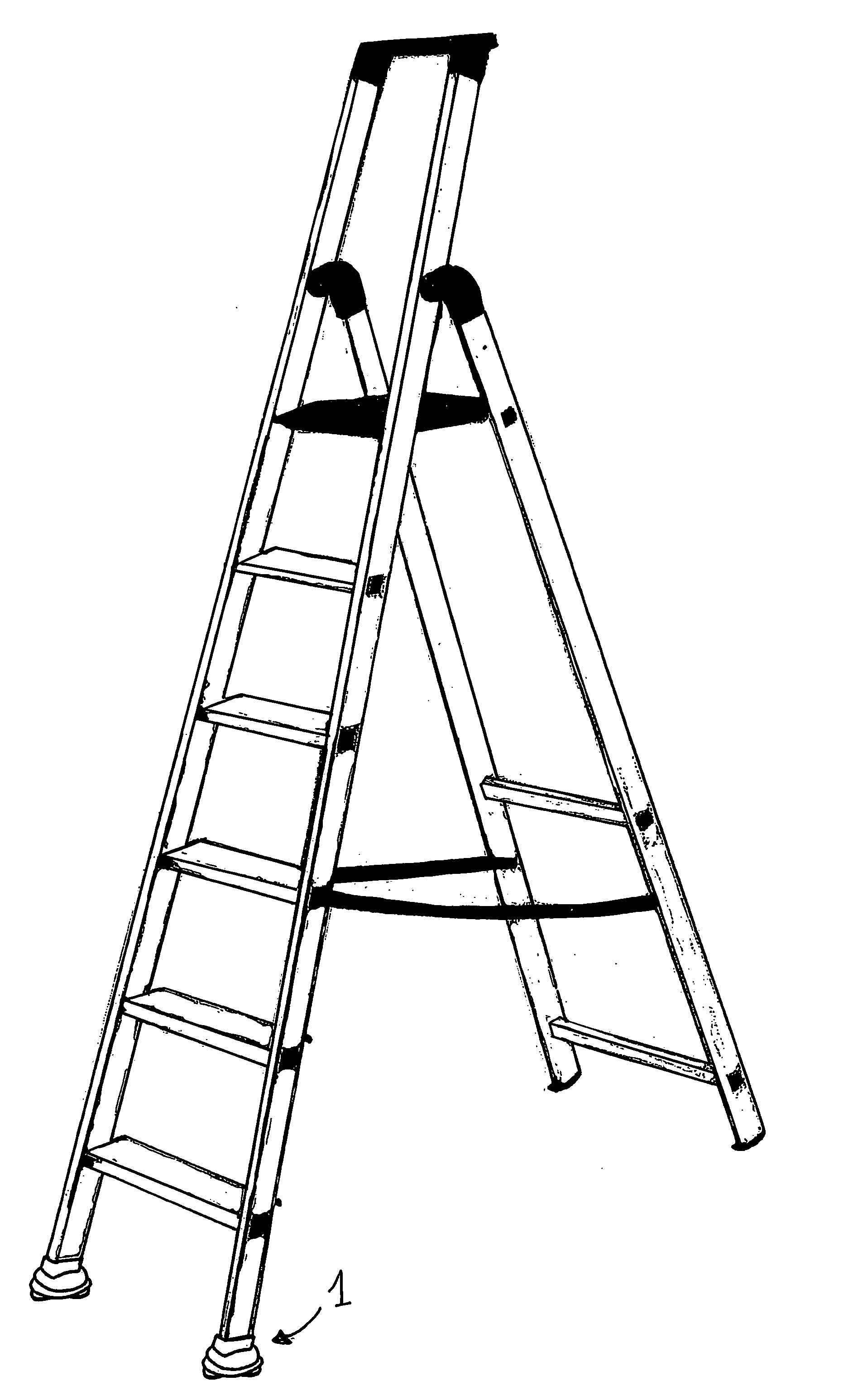 1884x3092 Patent Us20130048427 Portable Ladder Google Patents Drawing