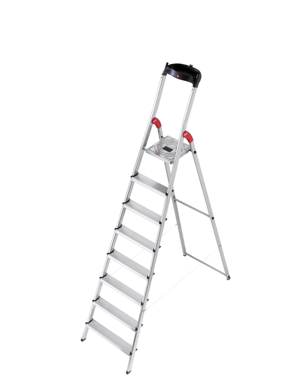 2040x2720 Hailo Usa Inc. 7.64 Ft Aluminum Step Ladder With 330 Lb. Load