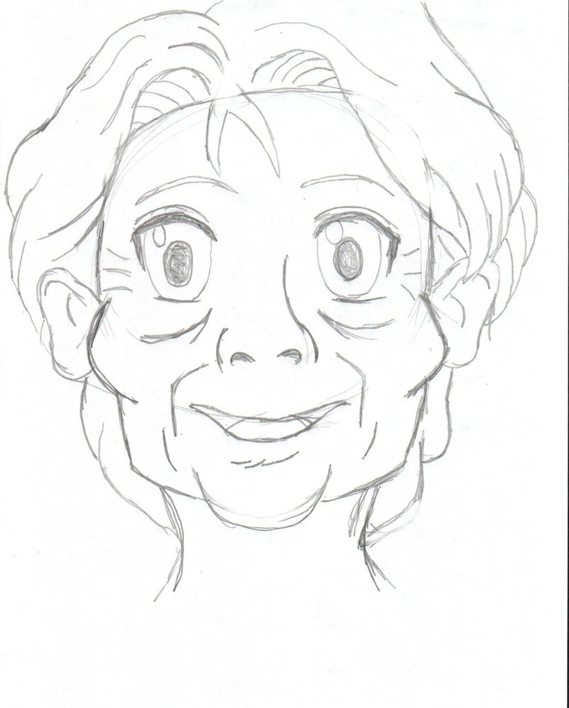 801x997 Drawing Of Old Lady Old Ladyspicytaco1