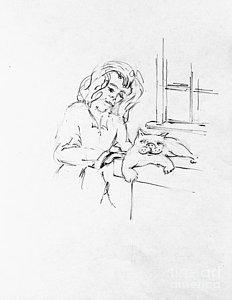 232x300 Cat Ladies Drawings