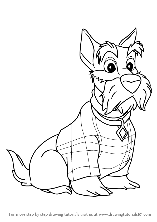 596x843 Learn How To Draw Jock From Lady And The Tramp (Lady And The Tramp